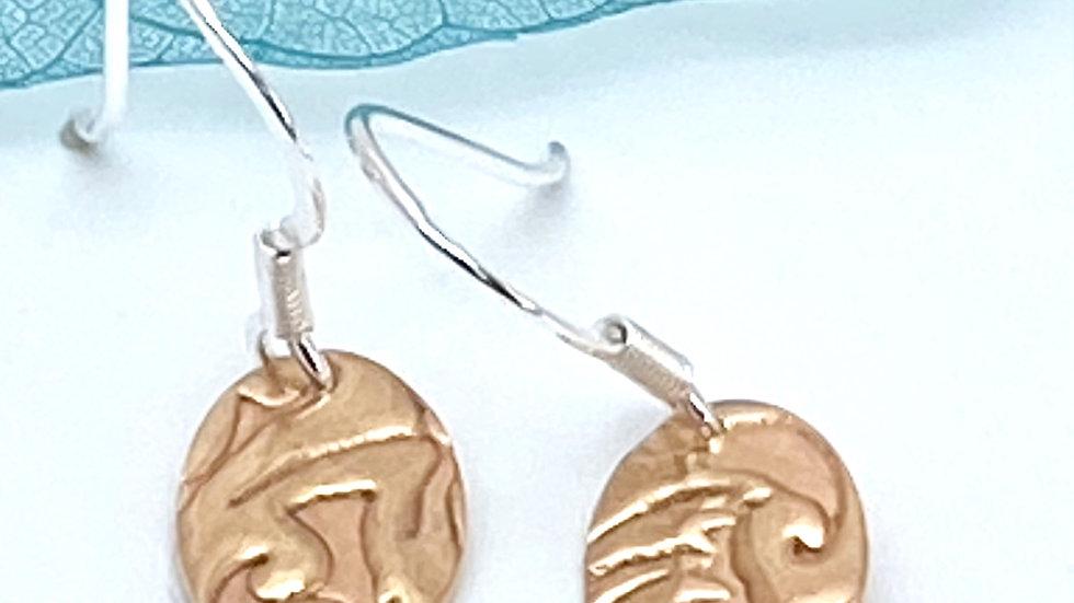 Bronze Drop Earrings choose shape.