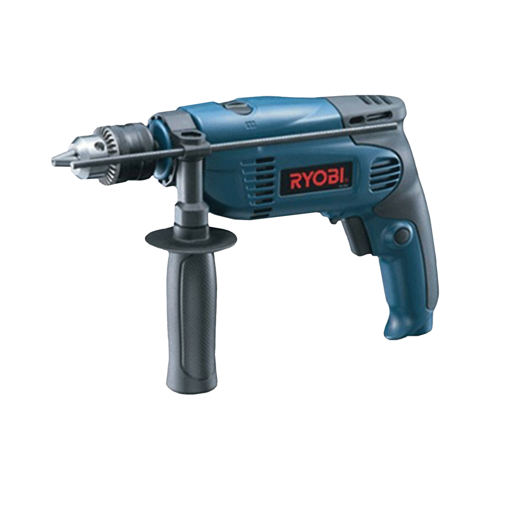 blue Impact Drill Ryobi Power Tools Logo