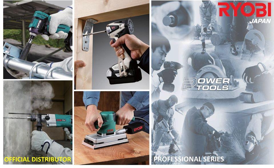 Official distributor of Ryobi Power Tools Philippines, Ryobi Japan, Ryobi cordless, Ryobi sander, Ryobi drill, ryobi saw, Ryobi professional Series, Ryobi black and white, ryobi green