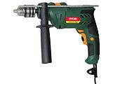 Dark green corded driver drill, Ryobi Power Tools