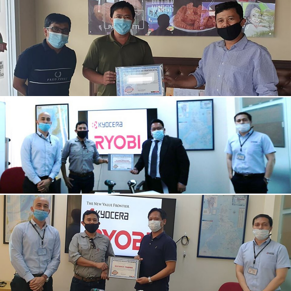 GM Medalla, 11 filipino men holding certification, certification for Ryobi Power Tools Philippines (Dealership), Authorized dealers for Ryobi Power Tools Philippines, Kyocera office, Social Distancing, Mask