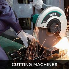 White electronic cutting saw, cutting machines