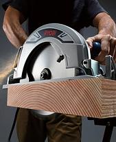 Ryobi saw cutting thick ply wood