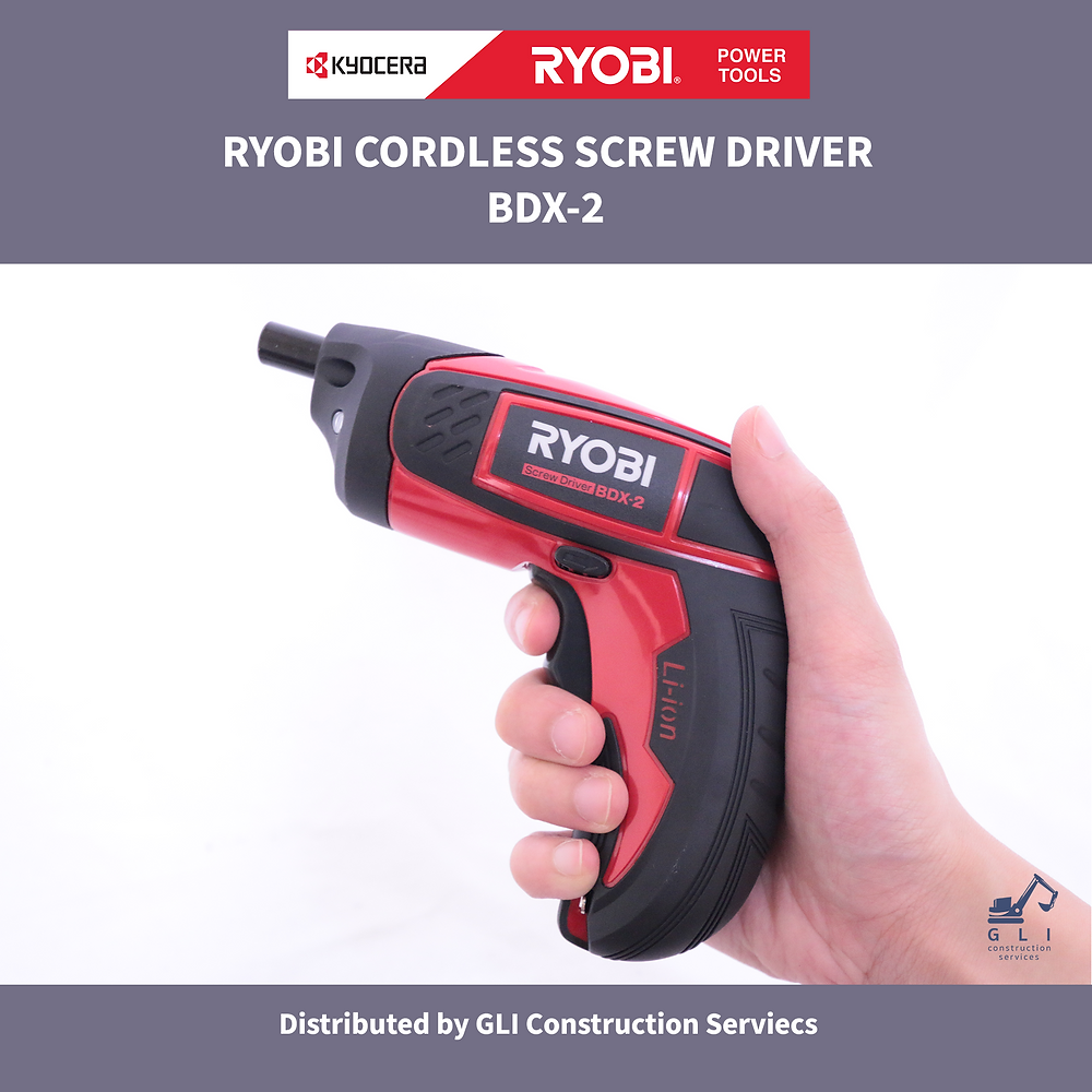 A hand holding a black and red Cordless Screw Driver