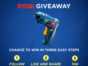 Ryobi Power Tools October Giveaway 2020