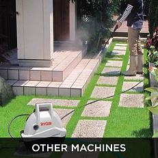 White Ryobi High pressure water cleaner, other machines