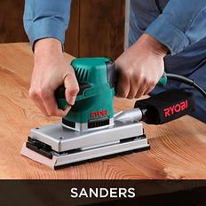 Teal Ryobi Corded Sander, Sanders