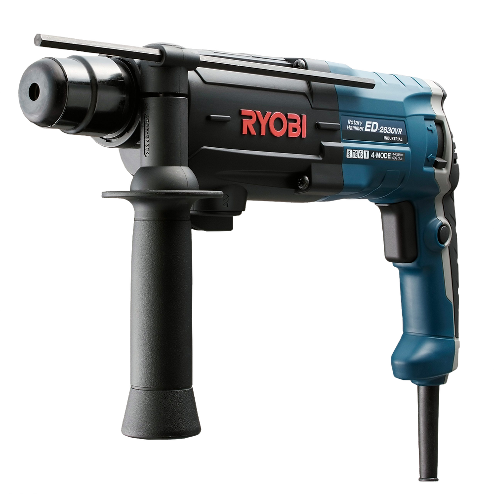 Black and blue Rotary Hammer with Ryobi Power Tools Logo