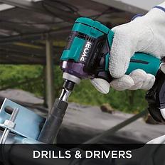 Teal Ryobi Impact Drill, Drills & Drivers