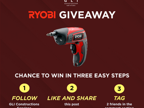 Ryobi Power Tools November Giveaway