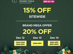 [12.12 Sale] Up to 20% OFF on All Kyocera and Ryobi Power Tools!