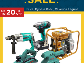 Up to 20% OFF on Power Tools and Construction Machineries!
