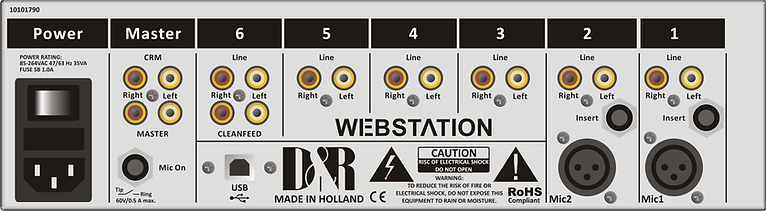 Back panel Webstation