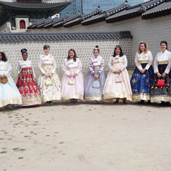 South Korea Hanbok and Palace