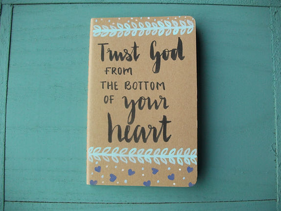 Trust God notebook