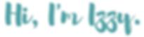 Im Izzy logo