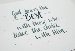 Leave The Choice With Him