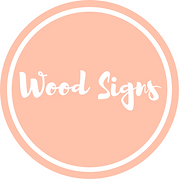 Wood signs logo