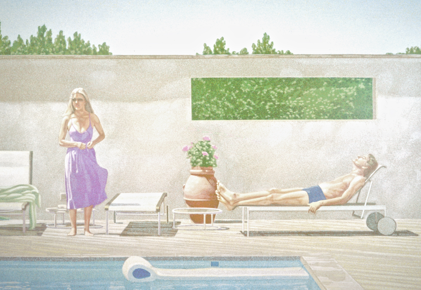 Poolside, Man and Woman, 1983