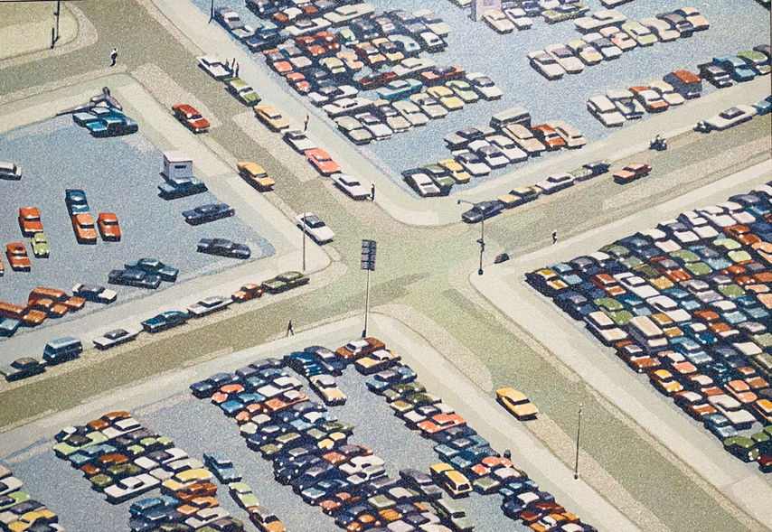 Cars and Intersection, 1975