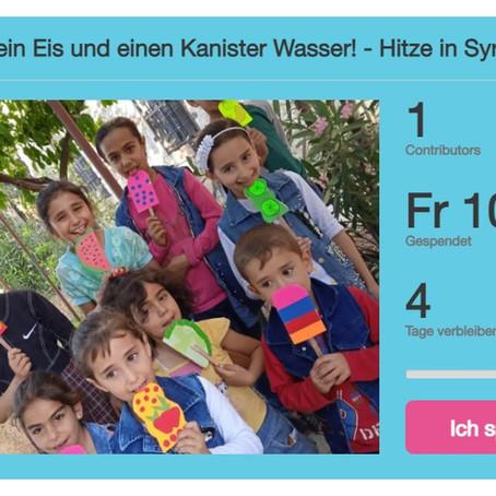 Spende ein Eis und einen Kanister Wasser für die Kinder im Zeltlager!