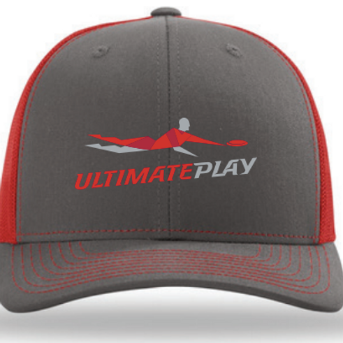 Red and Gray Trucker Hat