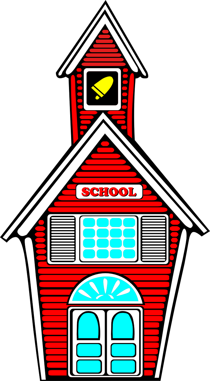 School bldg by Clker-Free-Vector-Images