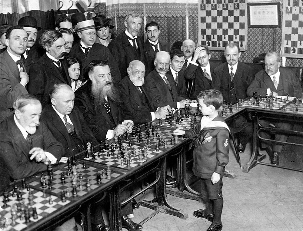 Eleven-year-old Sammy Reshevsky, NY 1922 by Wikipedia