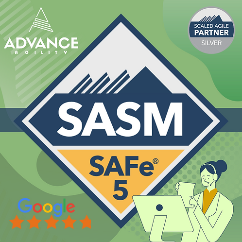 SAFe Advanced Scrum Master, Apr 19 - Apr 20, Mon - Tue, 9am - 5pm, PST