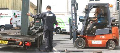 Transport et déménagement matériel central maintenance