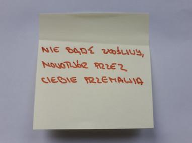 nie bądź złośliwy... | kartki na złe okoliczności