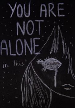 you are not alone | kartki na złe okoliczności