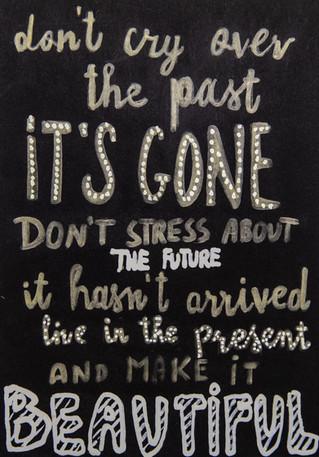 live in the present | kartki na złe okoliczności