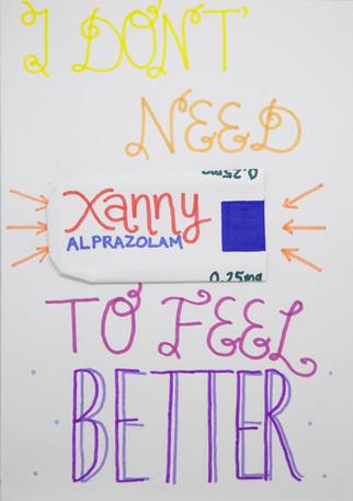 i don't need xanny... | kartki na złe okoliczności