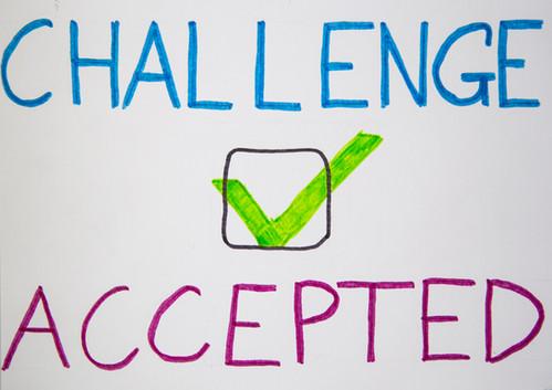 challenge accepted | kartki na złe okoliczności