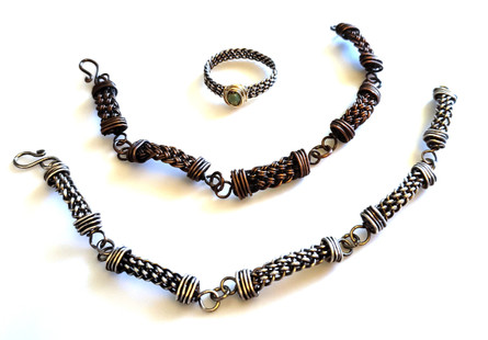 Woven Links Bracelets & Ring