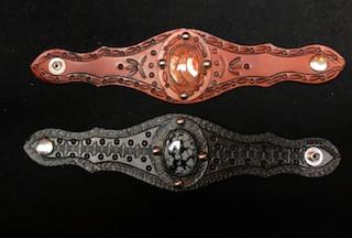 Fancy Leather Stone Bracelet