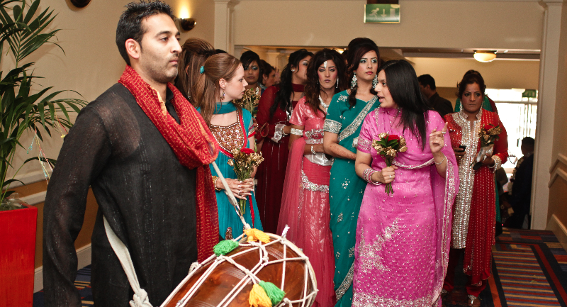 Dhol player for wedding entrance