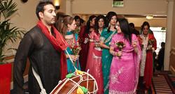 Dhol player for wedding entrance