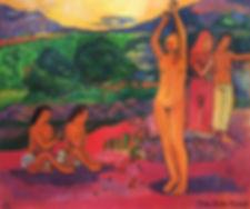 Peint-la-main-femme-nue-Art-peinture-l-i