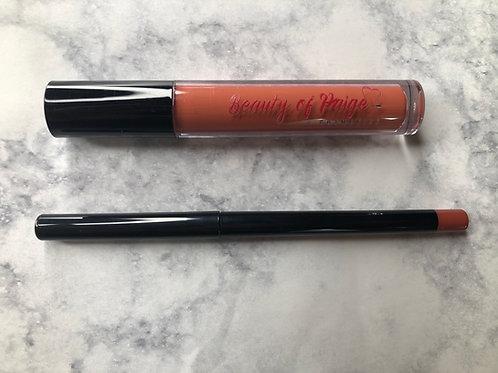 'Brown Plum' Matte Lipstick and Lip Liner