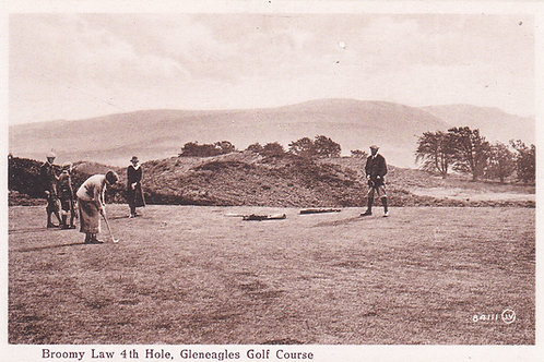 Gleneagles.Broomy Law 4th Hole Ref.986 C.1920s