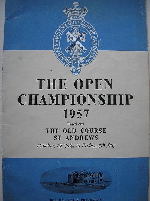1957 British Open Programme Ref.137