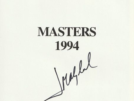 U.S. Masters Annuals each Hand Signed by the Winners Prices include insured Postage to the UK or USA