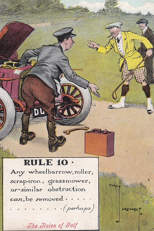 Chas. Crombie Rules of Golf Valentine Ref.1864