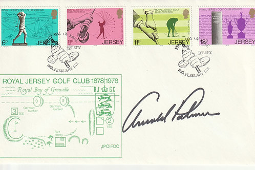 Arnold Palmer Hand Signed Royal Jersey Golf Centenary Cover Ref.05