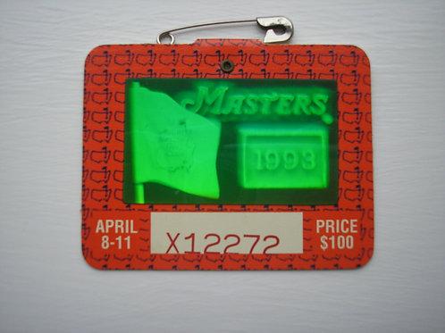 1993 Bernhard Langer Signed Masters Badge Ref.USMB.023