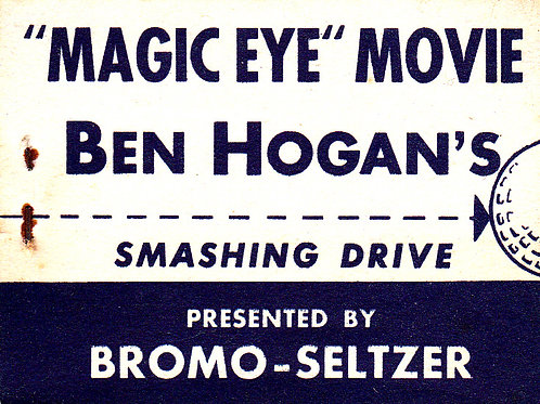 Ben Hogan Flicker Book.Ref E&T 63. C.1940s