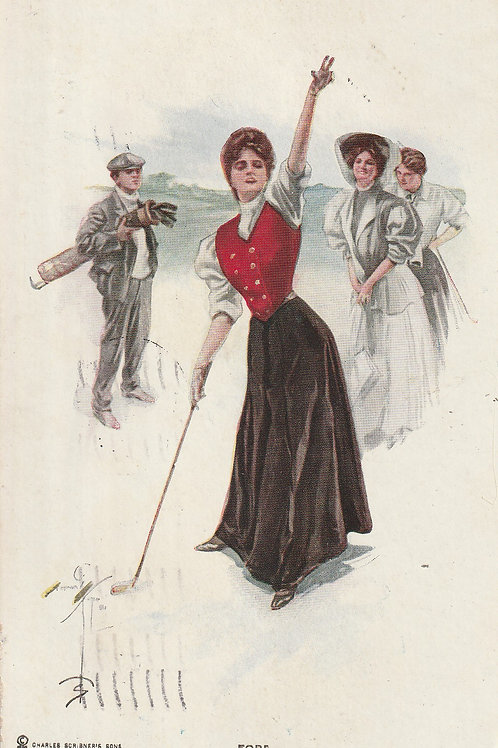 Golf Art/Fashion PC Ref.1680a C.pre 1911
