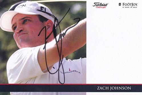 Zach Johnson Signed Trade Card Ref.415 C.1990s